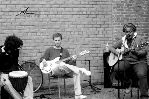 Photo from my last show at Gutierrez Studios. The gentleman in the photo will be joining me this month at Terra Cafe!