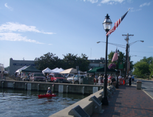 My view while I sing at the Annapolis Market! http://www.freshfarmmarket.org/