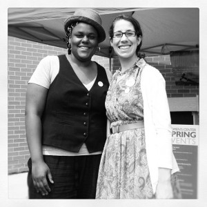This past May, with the Director of the Women's Center at UMBC, Ms. Jessica Myers. I played for their 20th Anniversary celebration!