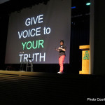 """Give voice to your truth."" - Ash Beckham  The day was full of great storytelling!"