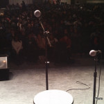 Approaching the mic at Arundel High School for a mini-QueerCore show with Ash Beckham (http://www.ashbeckham.com/)
