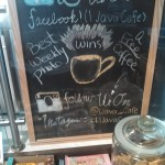 Rotating specials on the chalk board!