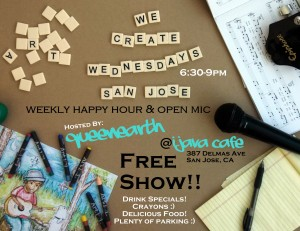 QueenEarth and iJava Cafe present . . . We Create Wednesdays!
