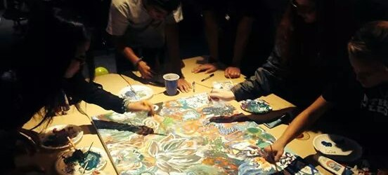 I dreamed of a live art installation. CCBC accepted our creation as a gift. Thank you CCBC for having us!