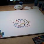 The early stages of the live art!