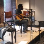Quinton Randall accompanied Hollywood and I, and added his original music to the open mic list.
